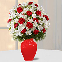Alstromeria N Carnations: New Year Gifts