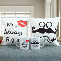 Always Right Cushion N Mug Combo: Anniversary Gift Ideas