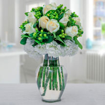 Arranged In Green N White: Birthday Gifts
