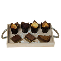 Assorted Brownies N Muffins: New Year Gifts
