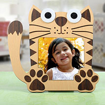 Cat Shaped Personalized Frame: Personalised Gifts
