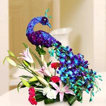 Floral Peacock Charm:  Gifts Delivery