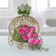 Fresh Pink Rose Arrangement: New Arrival Gifts in Dubai