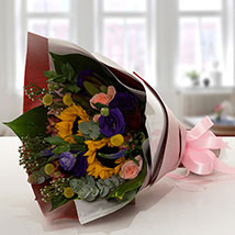 Gracious Flower Bouquet In Paper Packing: Best Gifts