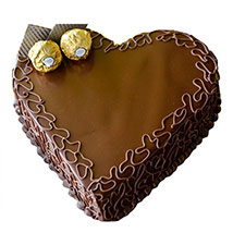 Heart Choco Cake: Designer Cakes  Delivery