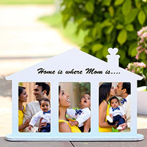 Home Shaped Personalized Frame: Personalised Gifts