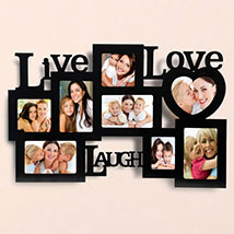 Live Love Laugh Photo Frame: Personalised Gifts