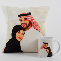 Lovable Personalized Cushion N Mug: Personalised Gifts