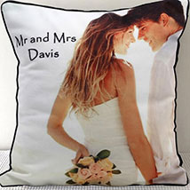 Mr N Mrs Personalized Cushion: Personalised Gifts
