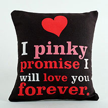 Pinky Promise Cushion: Anniversary Gift Ideas