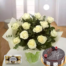 Pure Love Combo: Flowers & Cakes