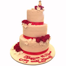 Red Satins and Roses: Designer Cakes
