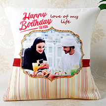 Romantic Birthday Personalized Cushion: Personalised Gifts