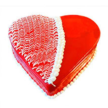 Strawberry Heart Cake: Designer Cakes  Delivery