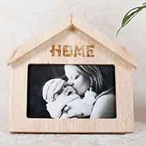 Wooden Home Shaped Frame: Personalised Gifts